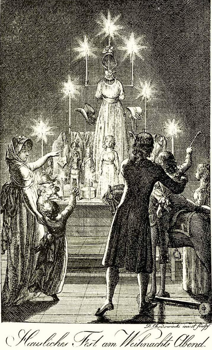 Daniel Chodowiecki, Hausliches Fest am Weihnachts Abend, 1799