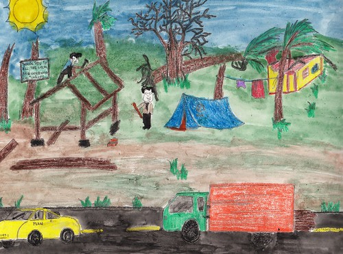 One year after typhoon Hayian: Filipino children draw ...