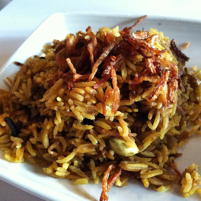 #kvpinmybelly Burmese fried rice at @RangoonRuby in #PaloAlto. NOM!