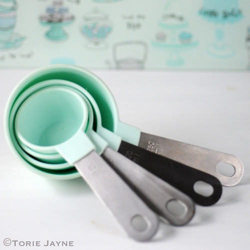 Duck egg blue measuring cups