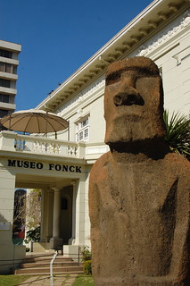 Moai at Museo Fonck, Viña del Mar, Chile