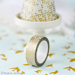 Gold geo print washi tape