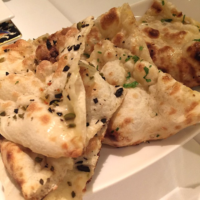 Fluffy Naan with Olives at Tandoor