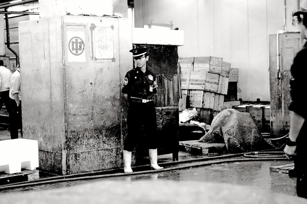 Young guard at Tsukiji market