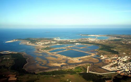 澎湖青螺濕地 全景空照(由南向北照)