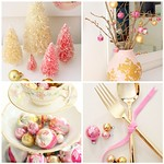 Citrus and Orange's pink and gold Christmas