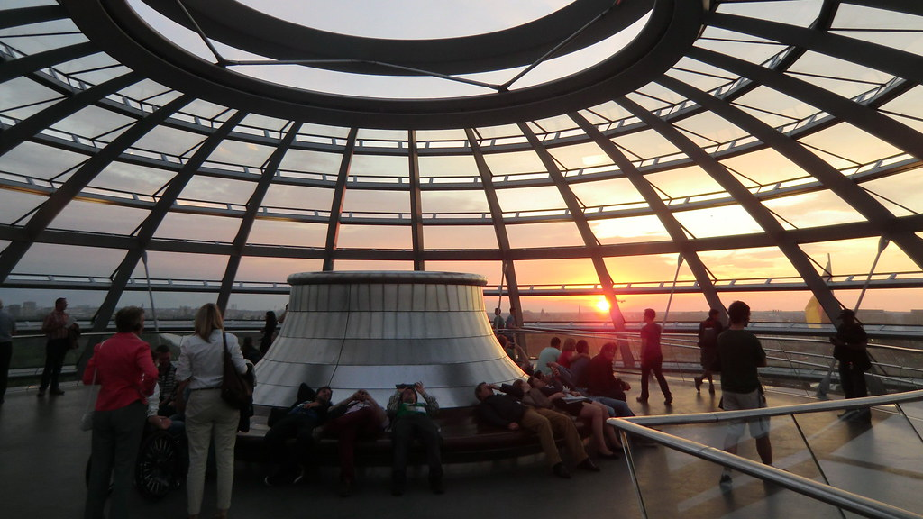 Berlin - on top of Reichstag