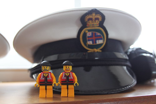The Crew with an RNLI hat