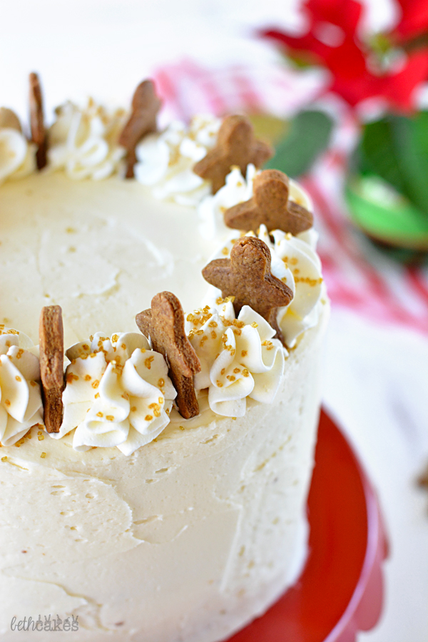 Gingerbread Cake with Maple Bourbon Frosting! bethcakes.com