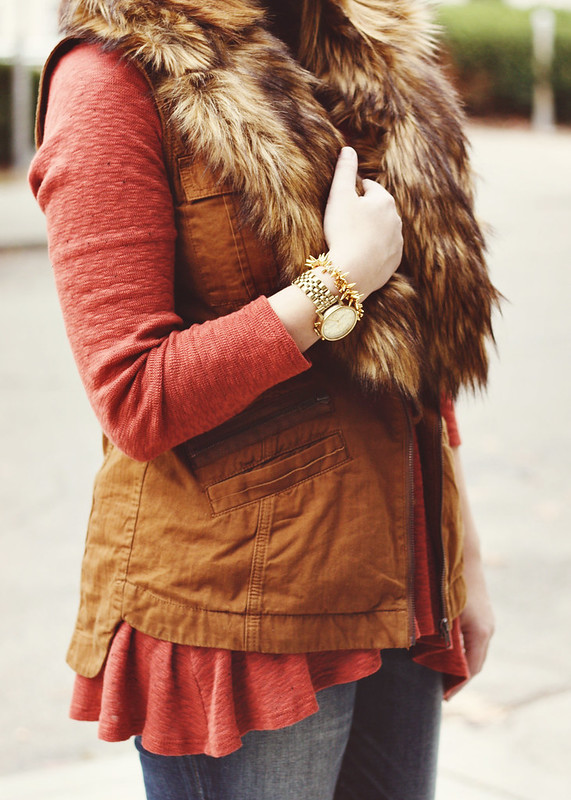 Anthro Swing Tunic + Fur Vest5