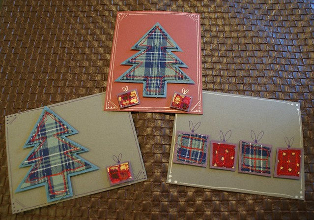 fabric trees & presents
