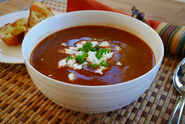 Beans and turkey soup