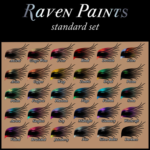 Devae. Paints: Raven makeup colors