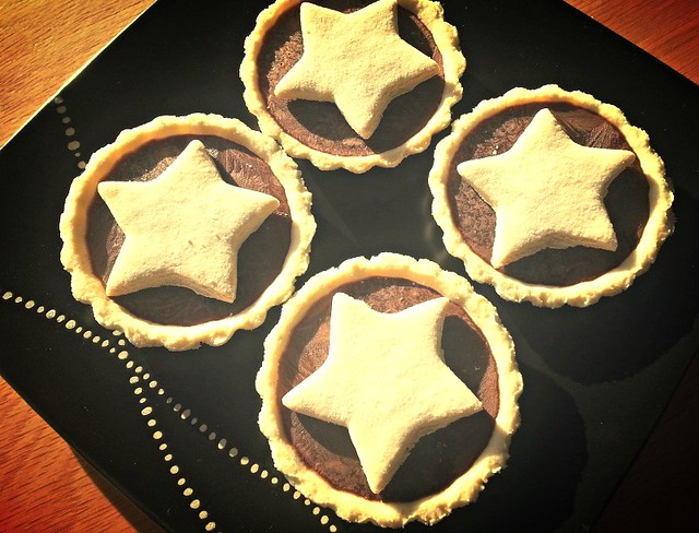 Hot Chocolate Tarts with Stars