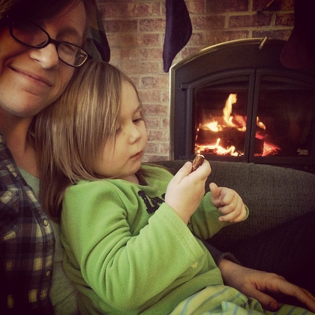 Hanging out by the fire :) #winterbreak2014