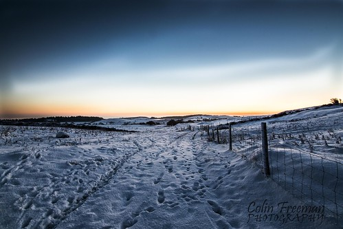 christmas winter sky white snow mountains colour field wales sunrise fence landscape nikon track path line hills tokina crop d750 footprint bryn clwyd 1116mm