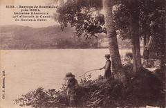 4133. Barrage de Bosméléac près Uzel, Immense Réservoir qui alimente le Canal de Nantes à Brest (c.1915)