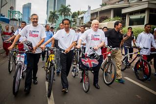 Visit by the Mayor of London Boris Johnson to Jakarta