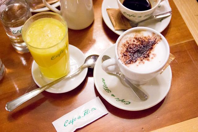 Coffee at Cafe de Flore Paris