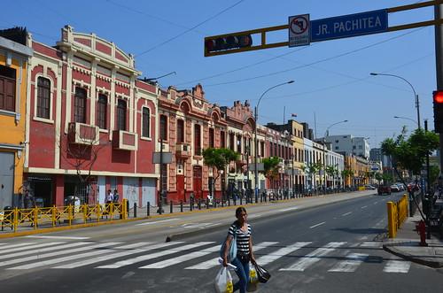 Eine Szene aus der Altstadt Lima