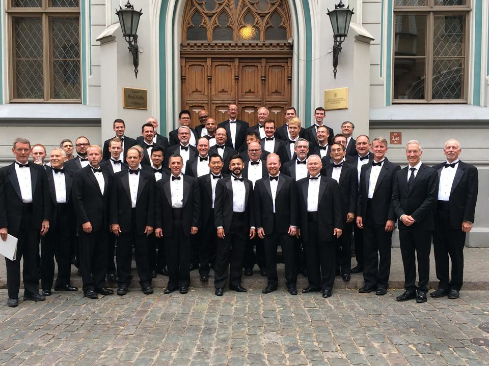 Golden Gate Men's Chorus at the Great Guild Hall in Riga, Latvia