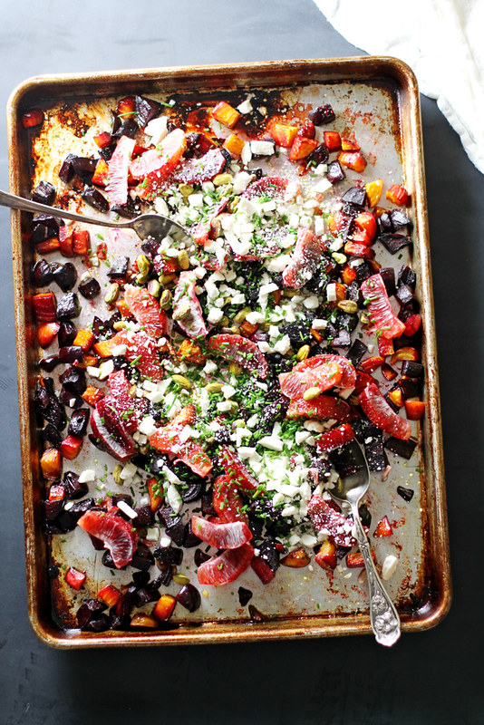Roasted Beet and Orange Salad with Pistachios and Feta | girlversusdough.com @stephmwise