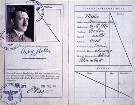 Pasaporte falsificado de Hitler