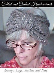 Cabled and Cinched Head Warmer 1