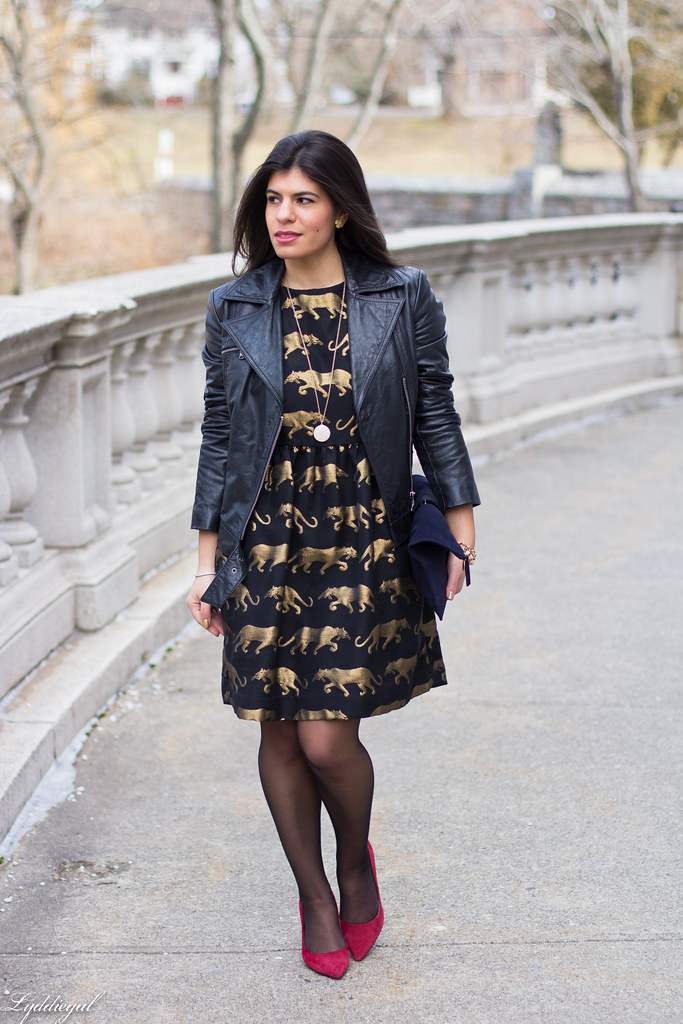 panther dress, leather jacket, red pumps.jpg