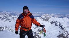 To ja na szczycie Pigne d Arola  3796m.