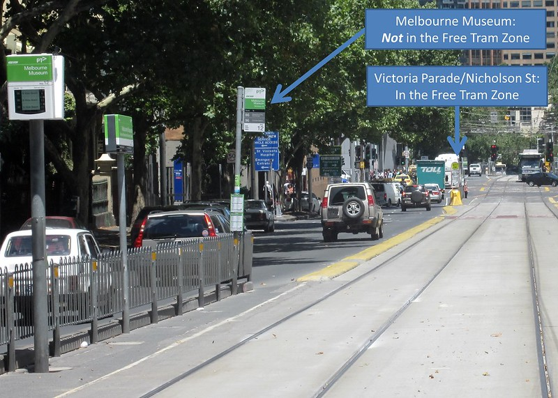 Free Tram Zone: Museum is out, Victoria Pde is in