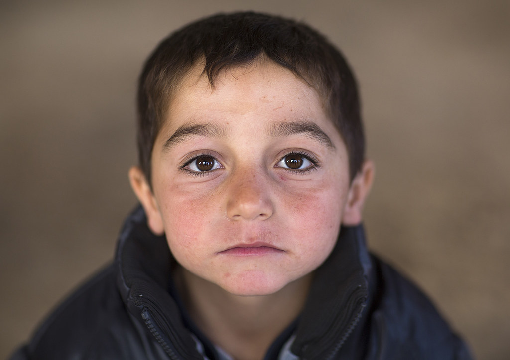 Yezedi Refugee Child From Sinjar, Duhok, Kurdistan, Iraq