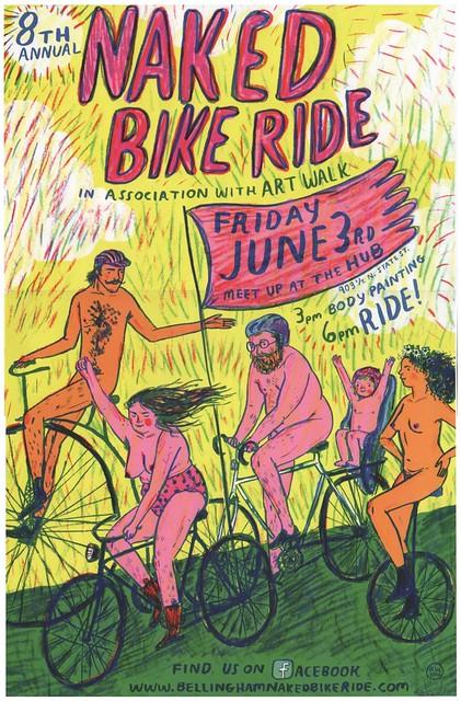 2016 World Naked Bike Ride in Bellingham, WA. Friday June 3.