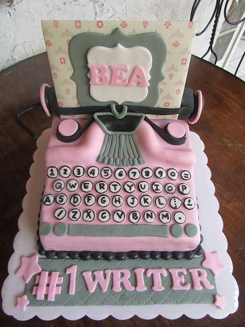 Typewriter Cake by Mel N. Luspo of Mel's Kitchen