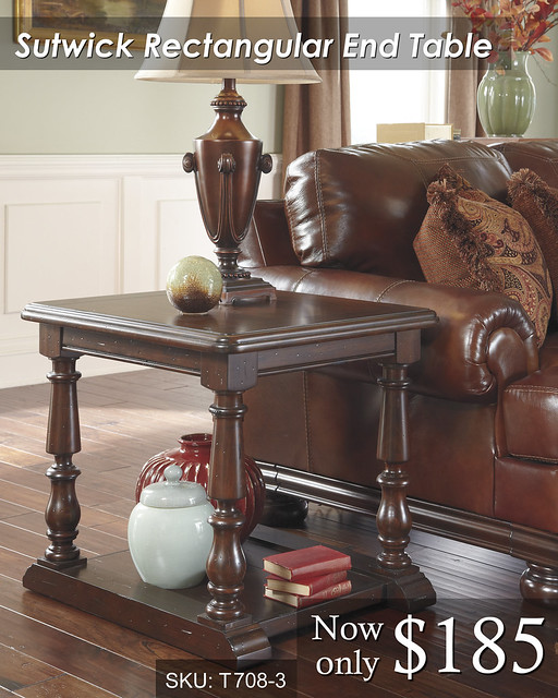 T708-3 Sutwick rectangular End Table - PRICED