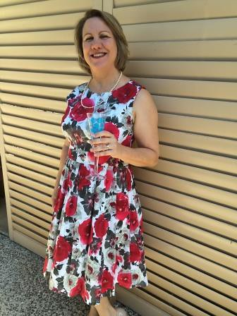 Frocked up for Melbourne Cup or a high tea