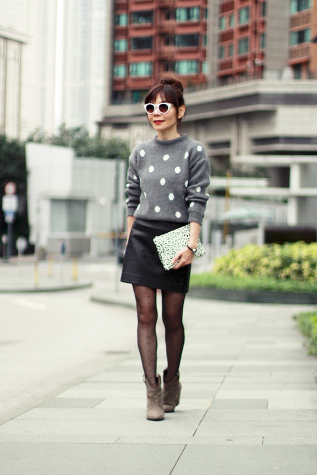 Monochrome with Polka Dots