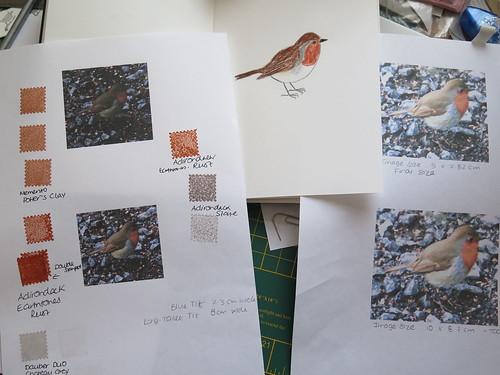 Original Drawing for Robin Print