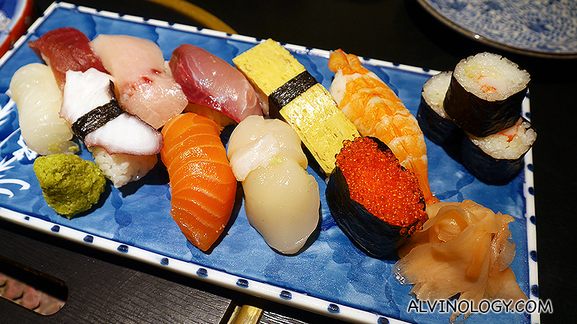 Sushi Moriwase (10 types) at S$75++