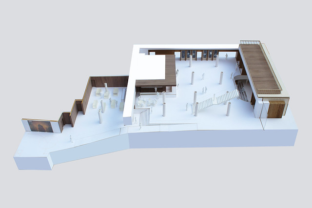 Ground floor foyer model © Stanton Williams 2014