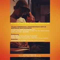 """Klub Kajian Kopi, 29 Desember 2011 """"Telaah Komparatif: Perkembangan Kopi di Australia dan Indonesia""""  #KilasBalik  #KlubKajianKopi #Philocoffee"""