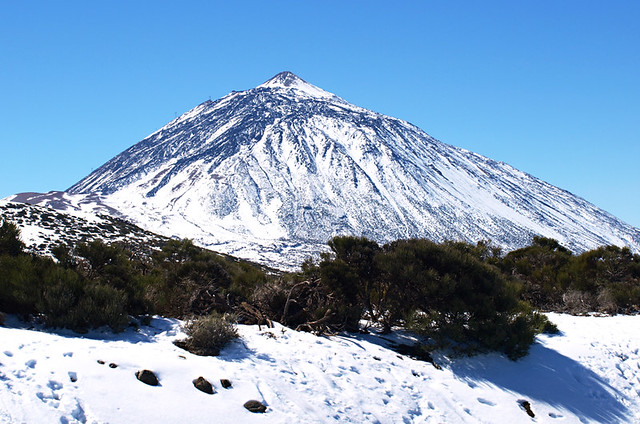 Snow, Mount Teide, Tenerife, Canary Islands