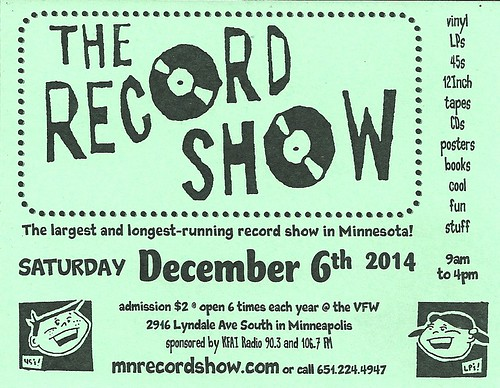 12/06/14 The Record Show @ LynLake VFW, Minneapolis, MN
