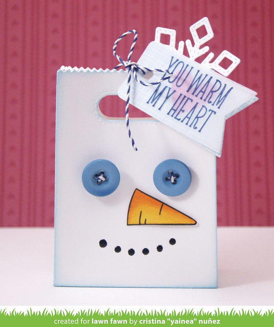 Mr. Snowman treat bag