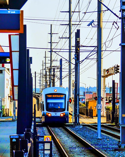 A Central Link Train Pulls Into SoDo Station...