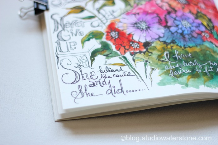 My Sketchbook: She Believed She Could and She Did