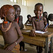 Hamer Tribe Kids In A School, Turmi, Omo Valley, Ethiopia by Eric Lafforgue