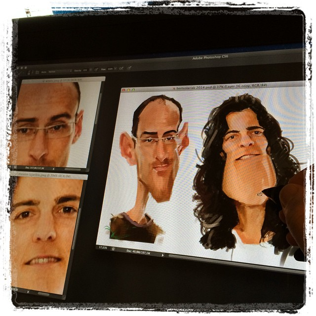 Re touching old caricatures #wacom #cintiq