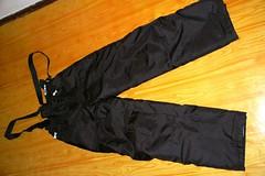 Dětské černé lyžařské kalhoty - titulní fotka