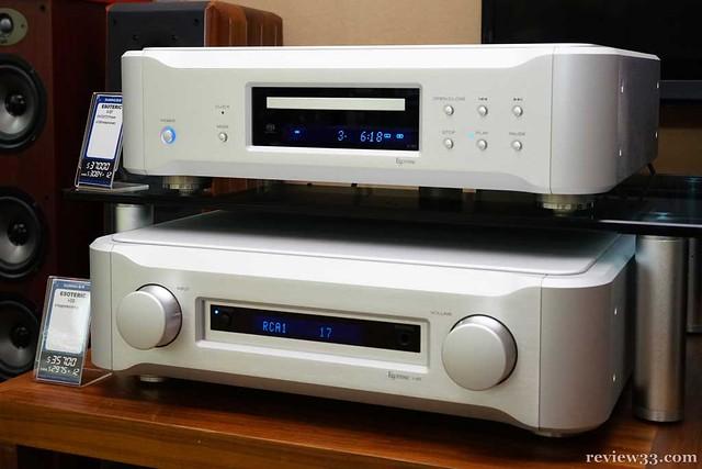 今次試聽的主角 - Esoteric K-07 SACD/CD Player 及 I-05 Integrated Amplifier